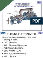 Training Manual Consepts of Steam Turbine Maintenance