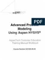Advanced Process Modelling Using Aspen HYSYS (OCR)