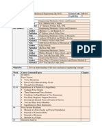 Course Outline Basic Mechanical Engineering