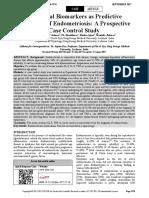 Peripheral Biomarkers as Predictive Indicators of Endometriosis a Prospective Case Control Study