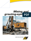 Mixing grouting equip