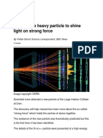 LHC Double Heavy Particle to Shine Light on Strong Force