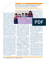 """Proyecto educativo """"Junt@s podemos podemos"""" Marta Guzmán Escobar, David Arellano Ayllón"""