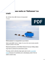 Antarctic Base Waits on 'Halloween' Ice Crack