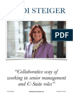 Heidi Steiger - Collaborative Way of Working in Senior Management and C-Suite Roles