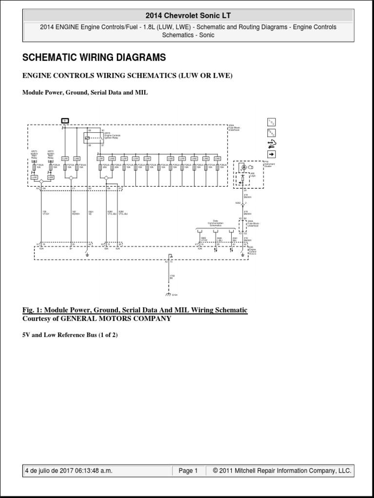 2014 Chevrolet Sonic LT | Engines | Ignition System | Chevrolet Sonic Wiring Diagram |  | Scribd
