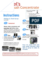 Slush Concentrate Instructions