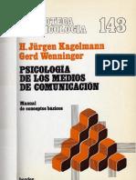 Psicología de Los Medios de Comunicación- Kagelmann Jurgen, Wenninger Gerard