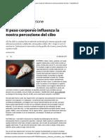 Il Peso Corporeo Influenza La Nostra Percezione Del Cibo - Repubblica