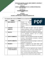 ISO 14001-2015 - TALLER N° 01 - PARTE I