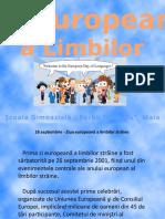 Prezentare Ziua Europeană a Limbilor