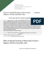 9 Effect of Cigarette Smoking on Blood Lipids[1]