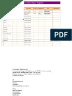 Plant Facility Register