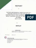 Geotechnical Investigation for Bouy Mooring DORIG-Phase 2
