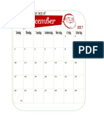 December Daily Calendar