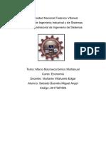 Marco Macroeconomico Mundial