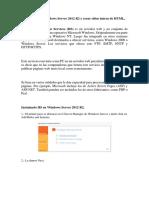 Instalar IIS en Windows Server 2012 R2