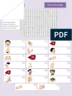 44021 Parts of the Body Wordsearch Puzzle