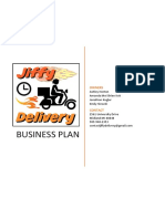 Jiffy Delivery Business Plan