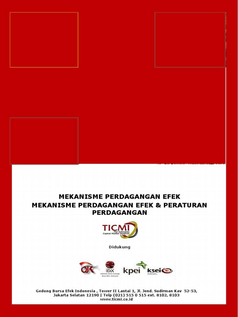 aturan perdagangan opsi di indonesia