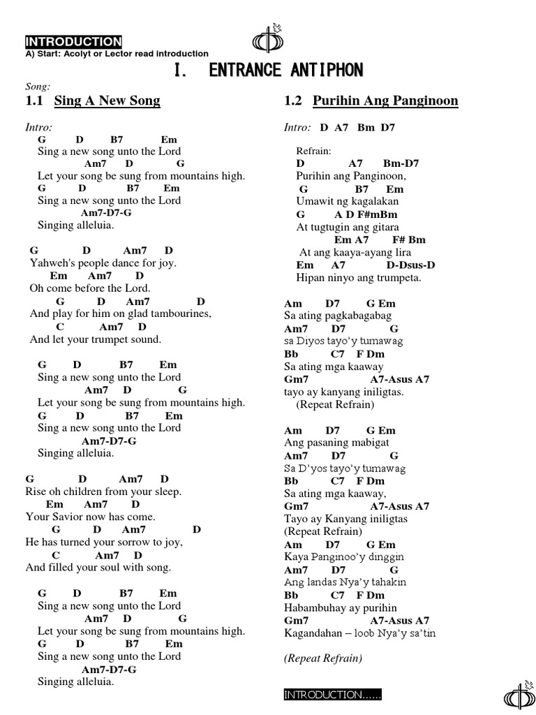 Missal Song Oct 20 2012 Song Structure Penance