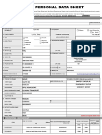 2017 Personal Data Sheet
