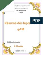 Résumé Des Leçons de 4 Am Cem Abou Bakre Essedik