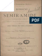 Rossini - Semiramide - Vocal score