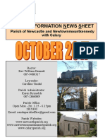 News October 2017 - Parishes of Newcastle & Newtownmountkennedy with Calary, in east Co. Wicklow