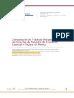 Cedillo (2015) Comparacion de Practicas Inclusivas de Docentes de Servicios de Educaciones Especial y Regular en Mexico