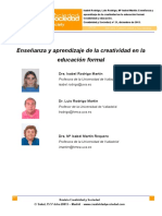 2.Ensenanza y Aprendizaje de La Creatividad en La Educacion Formal