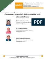 2.Ensenanza y Aprendizaje de La Creatividad en La Educacion Formal