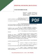 Lei Nº 348, de 18/09/2002