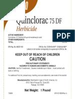 Quinclorac 75 DF Label