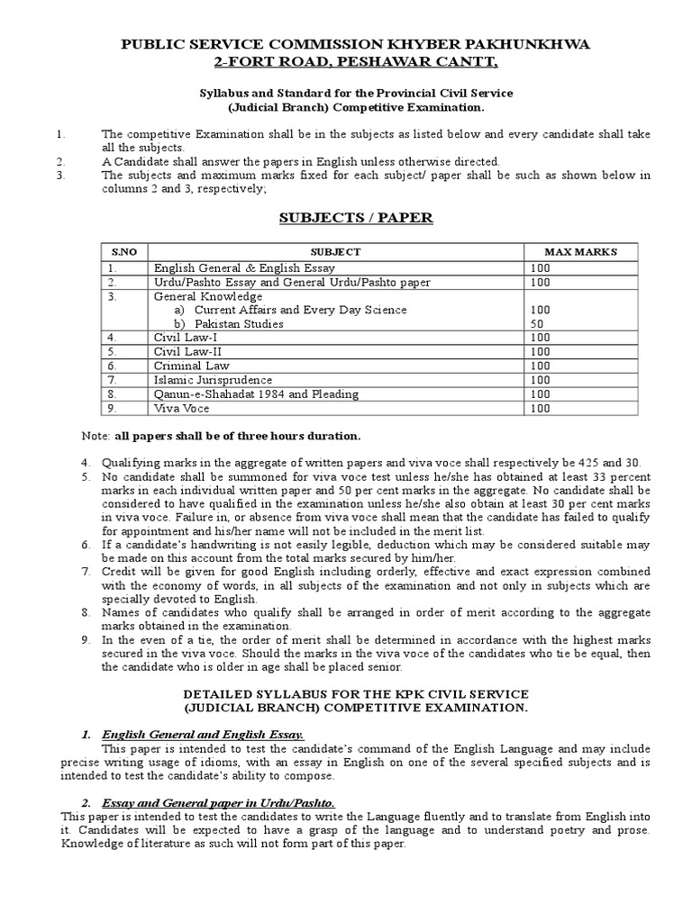 Essay Topics High School Syllabus And Standard For The Provincial Civil Service Judicial Branch  Competitive Examination Doc  Sharia  Jurisprudence How To Write Science Essay also How To Write An Essay For High School Syllabus And Standard For The Provincial Civil Service Judicial  Apa Style Essay Paper
