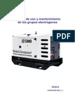 Manual Uso y Mantenimiento Equipos Electrogenos