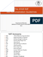 2016 NAT Test Admin Guidelines.ppt