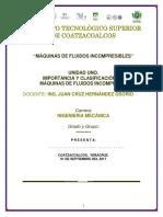 Clasificación de Maquinas de fluidos incompresibles