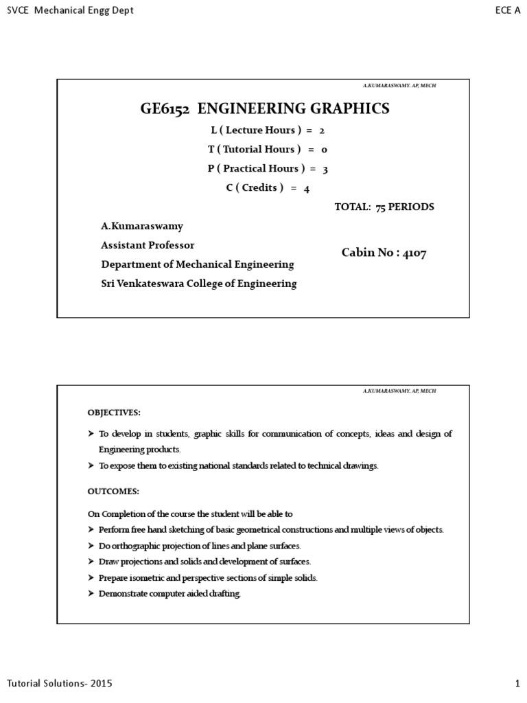 Engineering Graphics Manual Technical Drawing Circle