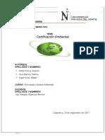 Certificacion Ambiental