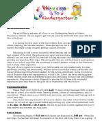 welcome letter kindergarten1