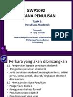 Topik 5. Penulisan Akademik