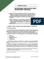 Evaluacion de Recursos Digitales en Linea