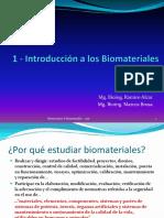 1- Introducción a Los Biomateriales