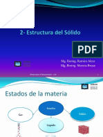 2 - Estructura de Sólidos