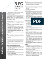 Guidelines Quantitative Research