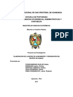 Elaboración de La Matriz de Alineamiento Priorización Del Distrito de Quinua