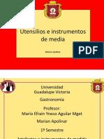 Utensilios e Instrumentos de Medida