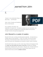 Lessons Learned from John Maxwell.docx