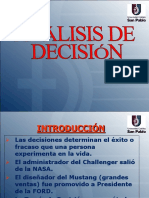 Análisis de Decisión (Cap III)